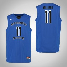 Georgia State Panthers #11 Isaiah Williams Blue College Basketball Jersey