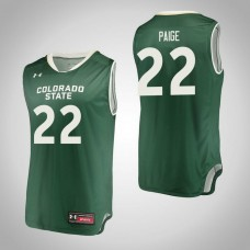 Colorado State Rams #22 J.D. Paige Green College Basketball Jersey