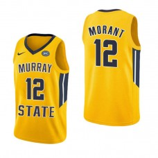 Murray State Racers #12 Ja Morant Yellow College Basketball Jersey