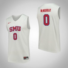SMU Mustangs #0 Jahmal McMurray White College Basketball Jersey