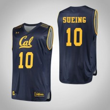 California Golden Bears #10 Justice Sueing Navy College Basketball Jersey