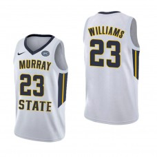 Murray State Racers #23 KJ Williams White College Basketball Jersey
