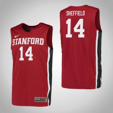 Stanford Cardinal #14 Marcus Sheffield Red College Basketball Jersey