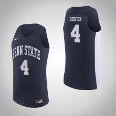 Penn State Nittany Lions #4 Nazeer Bostick Navy College Basketball Jersey