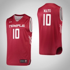 Temple Owls #10 Nicolette Mayo Red College Basketball Jersey