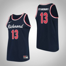 Richmond Spiders #13 Solly Stansbury Navy College Basketball Jersey