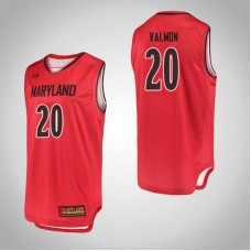 Maryland Terrapins #20 Travis Valmon Red College Basketball Jersey