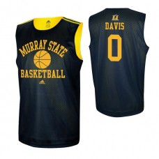 Murray State Racers #0 Mike Davis Navy Blue College Basketball Jersey