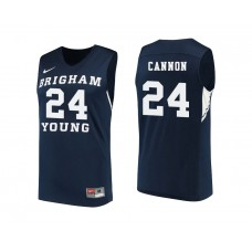 BYU Cougars #24 McKay Cannon Navy College Basketball Jersey