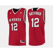 NC State WolfPack #12 Cameron Gottfried Red Road College Basketball Jersey