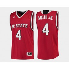 NC State WolfPack #4 Dennis Smith Jr. Red Road College Basketball Jersey