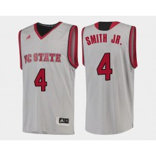 NC State WolfPack #4 Dennis Smith Jr. White Home College Basketball Jersey