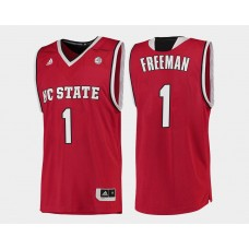 NC State WolfPack #1 Lennard Freeman Red Road College Basketball Jersey