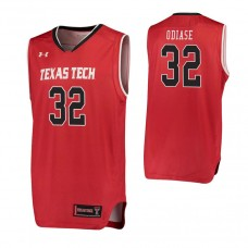 Texas Tech Red Raiders #32 Norense Odiase Red College Basketball Jersey