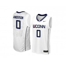UConn Huskies Antwoine Anderson Home White Jersey