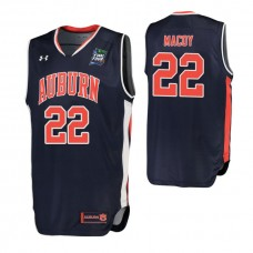 Auburn Tigers #22 Will Macoy Navy 2019 Final Four College Basketball Jersey