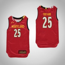 Youth Maryland Terrapins #25 Alex Tostado Red College Basketball Jersey