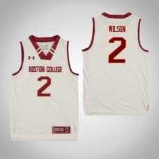 Youth Boston College Eagles #2 Avery Wilson White College Basketball Jersey