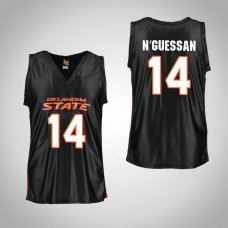 Youth Black Oklahoma St Cowboys #14 Lucas N'Guessan Jersey