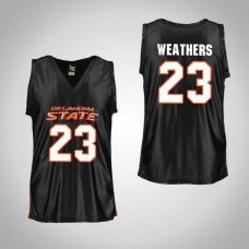 Youth Black Oklahoma St Cowboys #23 Michael Weathers Jersey