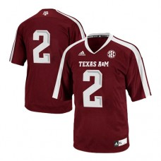 Texas A&M Aggies #2 Johnny Manziel Red Authentic College Football Jersey