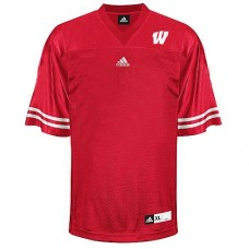 Wisconsin Badgers Blank Red Authentic College Football Jersey