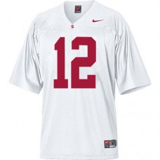 Stanford Cardinal #12 Andrew Luck White Replica College Football Jersey
