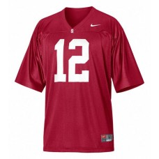 Kid's Stanford Cardinal #12 Andrew Luck Red Replica College Football Jersey