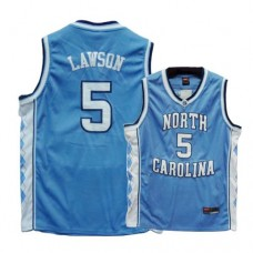 North Carolina #5 Ty Lawson Blue Authentic College Football Jersey