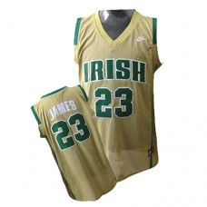Notre Dame Fighting Irish #23 Lebron James Earth Yellow Authentic College Basketball Jersey