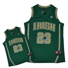 Notre Dame Fighting Irish #23 Lebron James Green Authentic College Basketball Jersey