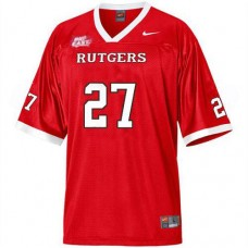 Rutgers Scarlet Knights #27 Ray Rice Red With Big East Patch Replica College Football Jersey