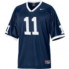 Penn State Nittany Lions #11 Khairi Fortt Navy Blue Authentic College Football Jersey