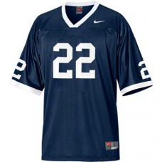 Penn State Nittany Lions #22 T.J. Rhattigan Navy Blue Authentic College Football Jersey