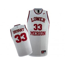 Lower Merion #33 Kobe Bryant White Authentic College Basketball Jersey