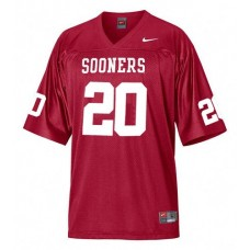 Oklahoma Sooners #20 Billy Sims Red Authentic College Football Jersey