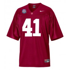 Alabama Crimson Tide #41 Courtney Upshaw Red Replica With 2012 BCS Championship Patch College Football Jersey