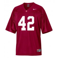 Alabama Crimson Tide #42 Eddie Lacy Red Authentic College Football Jersey