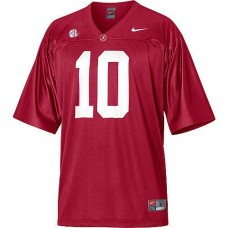 Alabama Crimson Tide #10 AJ McCarron Red With 2012 SEC Patch Authentic College Football Jersey