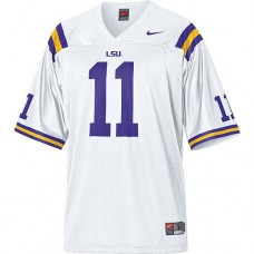 LSU Tigers #11 Spencer Ware White Authentic College Football Jersey
