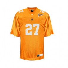 Tennessee Vols #27 Arian Foster Orange With SEC Patch Replica College Football Jersey
