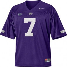 Kansas State Wildcats #7 Collin Klein Purple With Big 12 Patch Replica College Football Jersey