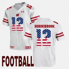 Wisconsin Badgers #12 Alex Hornibrook White College Football Jersey