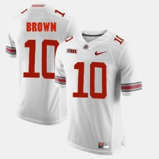 Ohio State Buckeyes #10 CaCorey Brown White College Football GAME Jersey