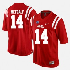 Ole Miss Rebels #14 D.K. Metcalf Red College Football GAME Jersey