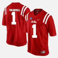 Ole Miss Rebels #1 Laquon Treadwell Red College Football GAME Jersey