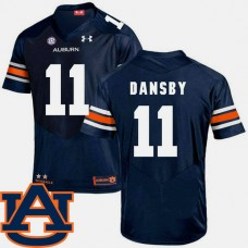 Auburn Tigers #11 Karlos Dansby Navy College Football Jersey
