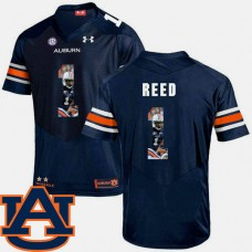 Auburn Tigers #1 Trovon Reed Navy College Football Jersey