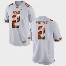 Texas Longhorns #2 Fozzy Whittaker White College Football Jersey