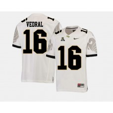 UCF Knights #16 Noah Vedral White College Football Jersey